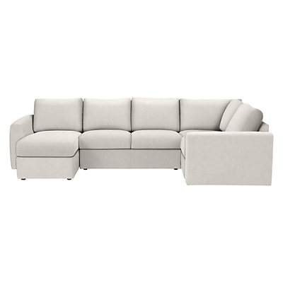 House by John Lewis Finlay II Corner Chaise-End Sofa, Fraser French Grey