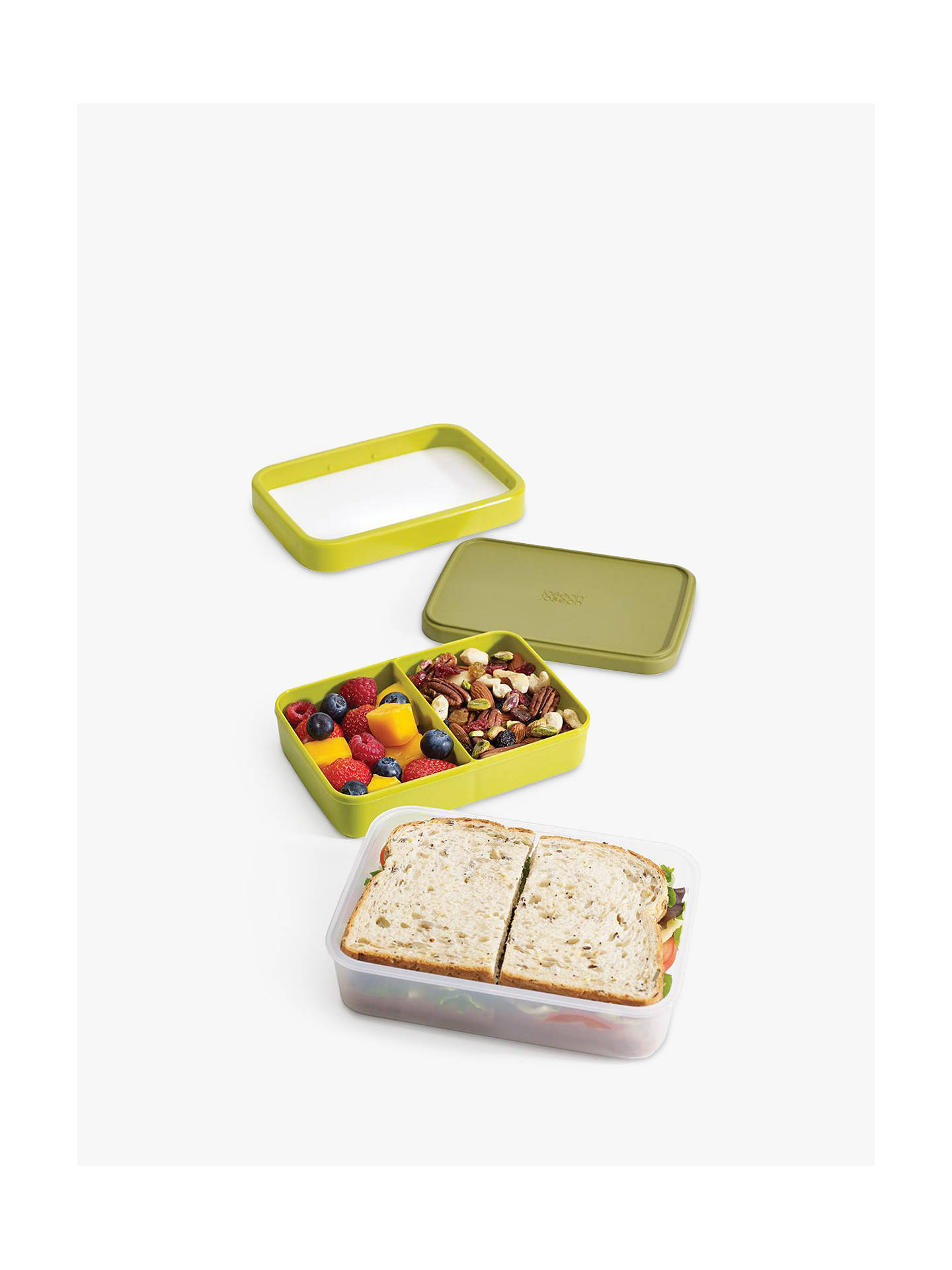 BuyJoseph Joseph GoEat Compact 2-in-1 Lunch Box, Green Online at johnlewis.com
