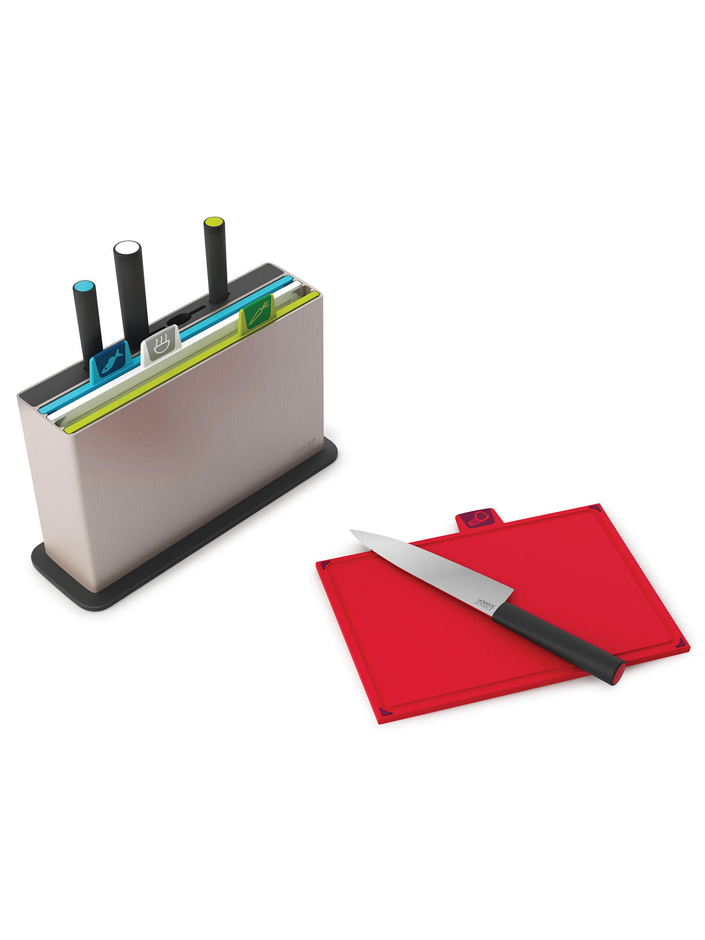 Buy Joseph Joseph Index 4 Chopping Boards / Filled Knife Block, 4 Piece Online at johnlewis.com