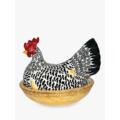 Emma Bridgewater Large Silver Hen on Nest, Egg Basket