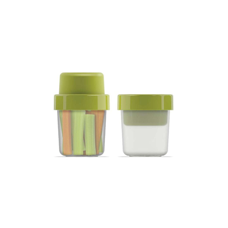 joseph joseph goeat compact 2 in 1 snack pot green at. Black Bedroom Furniture Sets. Home Design Ideas