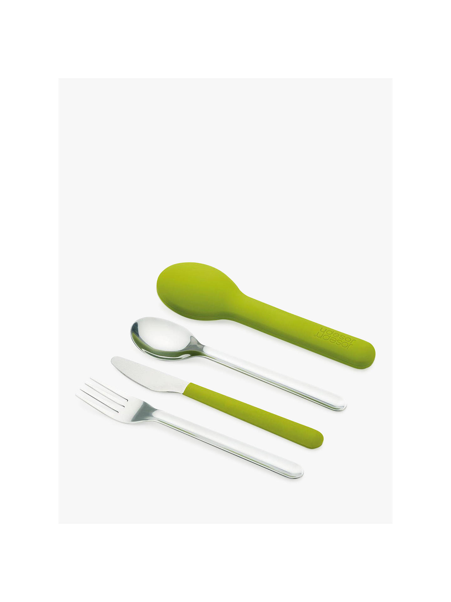 BuyJoseph Joseph GoEat Compact Portable Stainless Steel Cutlery Set, Green Online at johnlewis.com