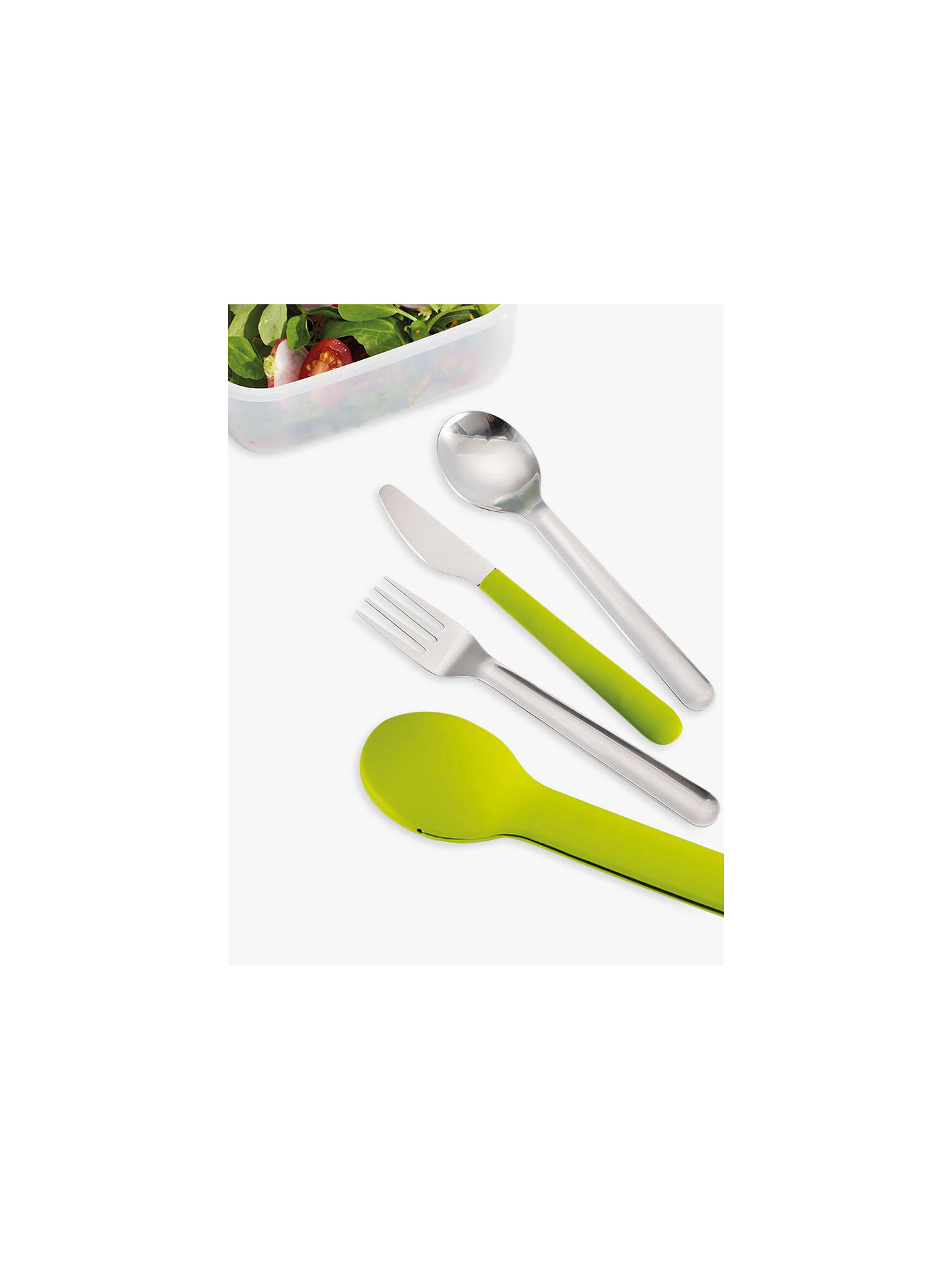 Buy Joseph Joseph GoEat Compact Portable Stainless Steel Cutlery Set, Green Online at johnlewis.com