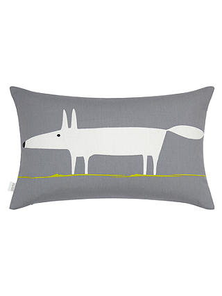 Buy Scion Mr Fox Cushion, Steel Online at johnlewis.com