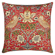 Buy Morris & Co Strawberry Thief Cushion Online at johnlewis.com