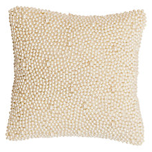 Buy Christy Venus Faux Pearl Covered Cushion Online at johnlewis.com