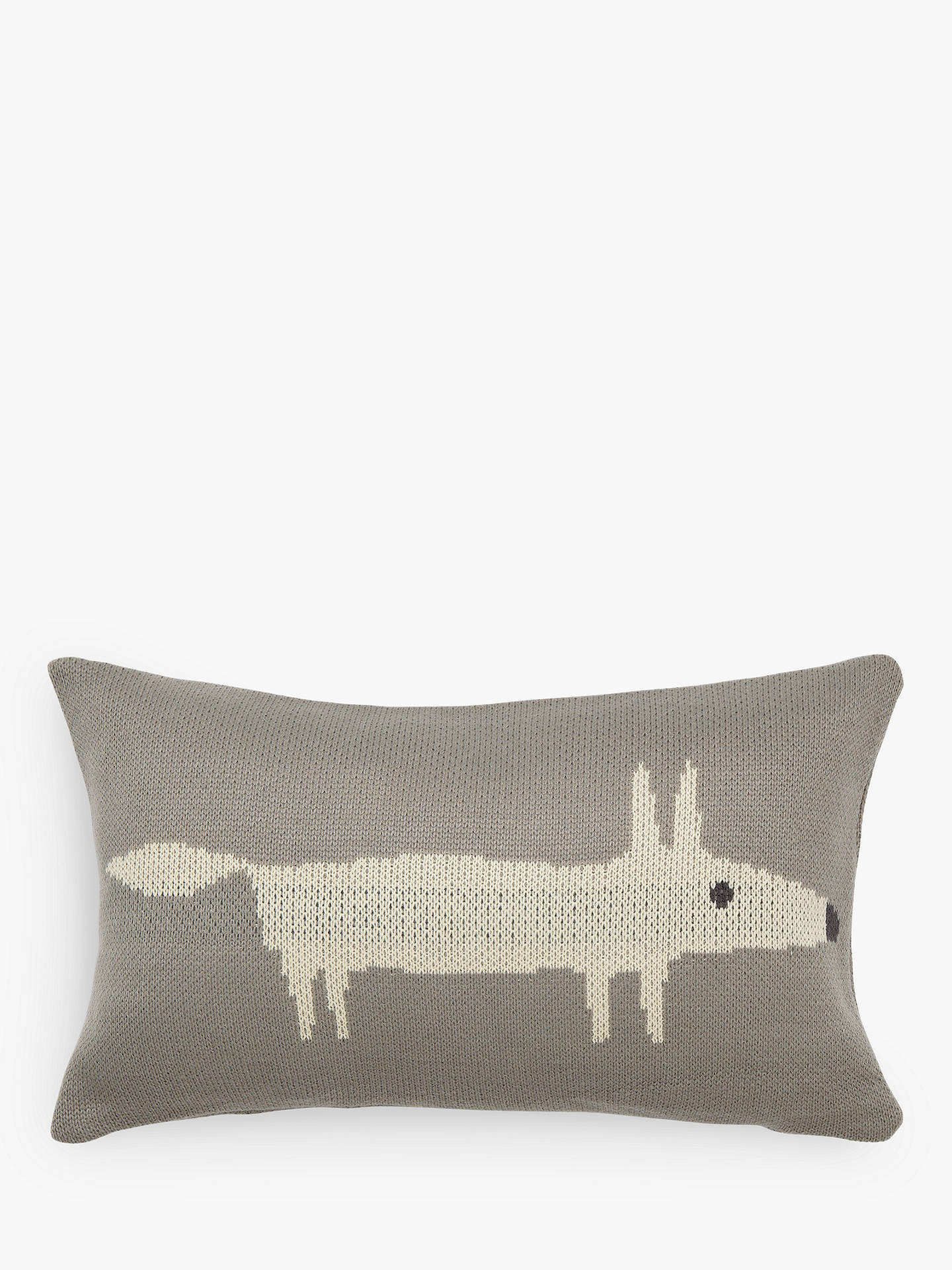 Buy Scion Mr Fox Knitted Cushion, Silver Online at johnlewis.com