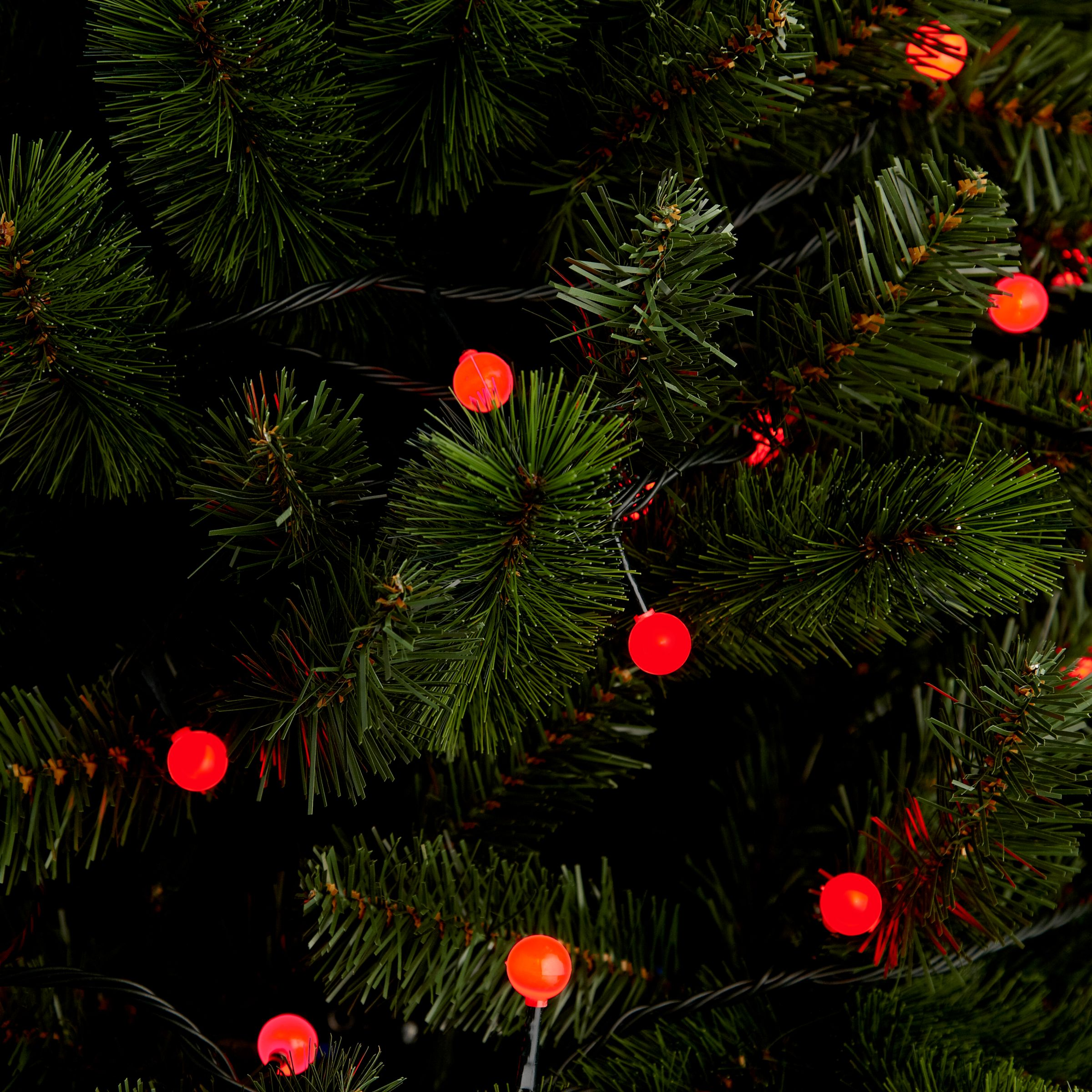 100 Led Red Berry Indoor Outdoor Christmas Lights 20m At John Lewis Partners