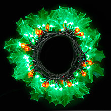 Buy John Lewis 60 LED 'Holly' Christmas Lights, 8m Online at johnlewis.com