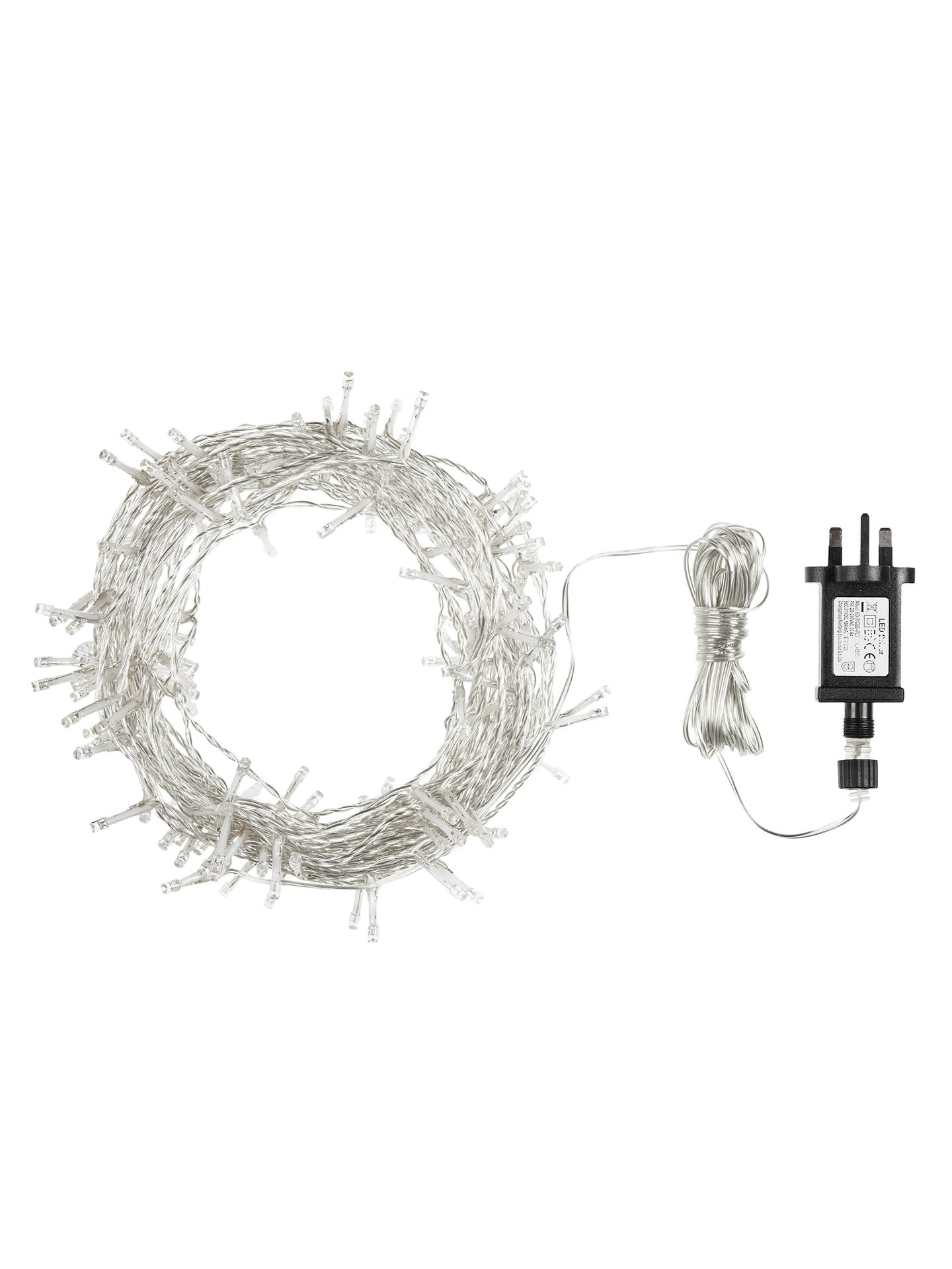 Buy John Lewis 180 Random Twinkle Indoor / Outdoor Christmas Lights with Timer, Soft White, 18m Online at johnlewis.com