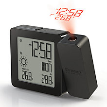 Buy Oregon Scientific Projection Alarm Clock with Weather Forecasting, Black Online at johnlewis.com