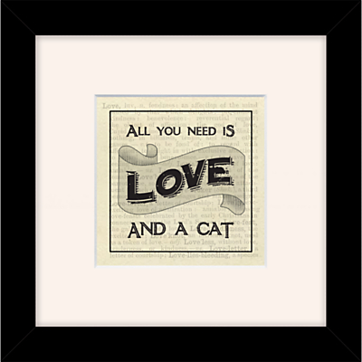 East of India - All You Need is Love & A Cat, 27 x 27cm
