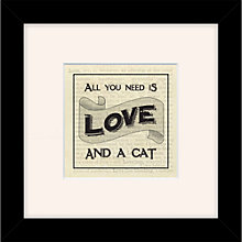 Buy East of India - All You Need is Love & A Cat, 27 x 27cm Online at johnlewis.com