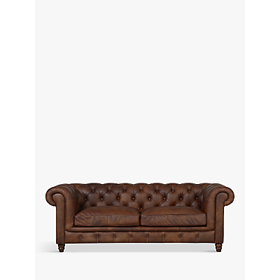 Halo Earle Chesterfield Medium 2 Seater Leather Sofa, Antique Whisky