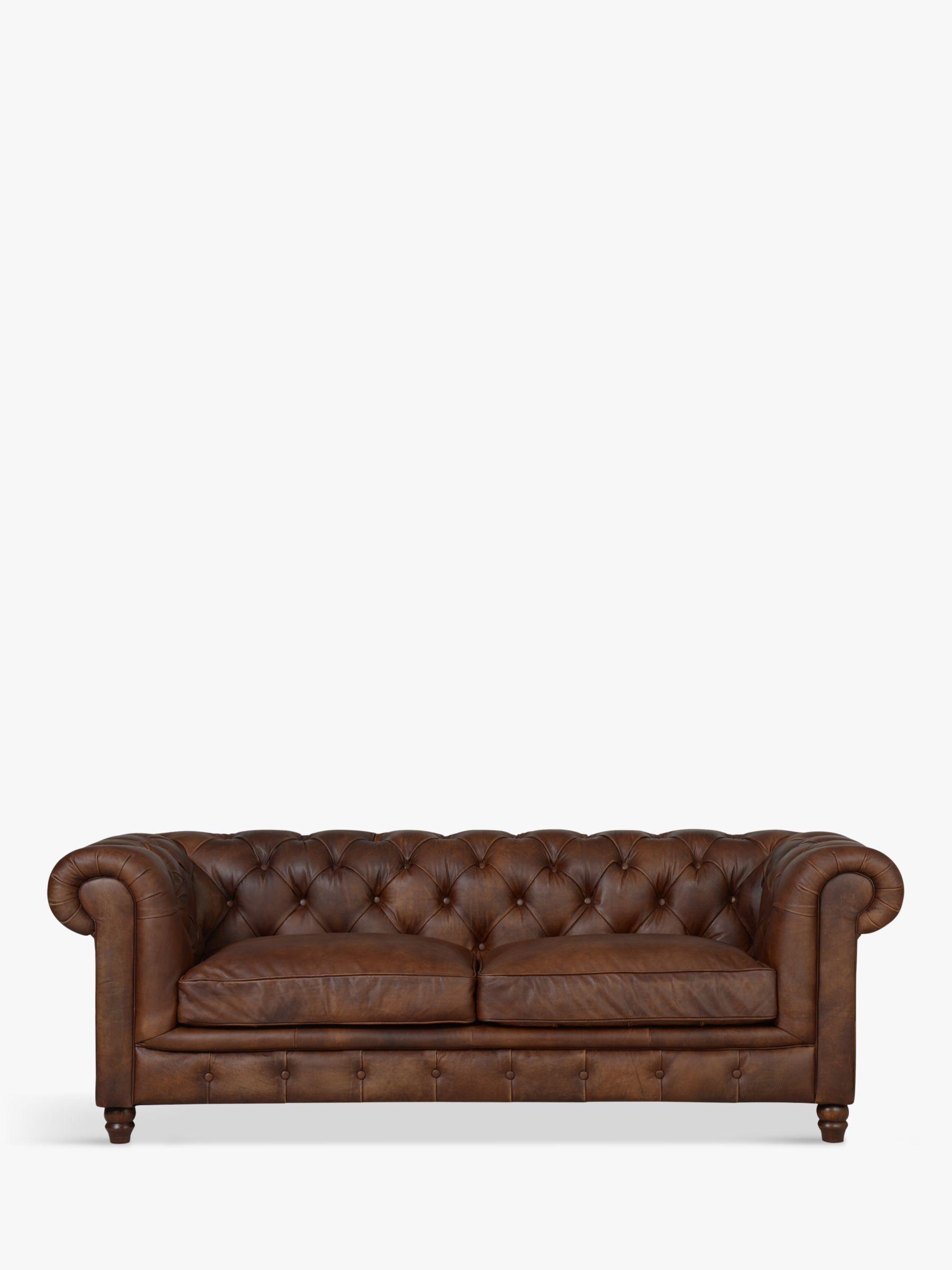 Halo Halo Earle Chesterfield Medium 2 Seater Leather Sofa, Antique Whisky