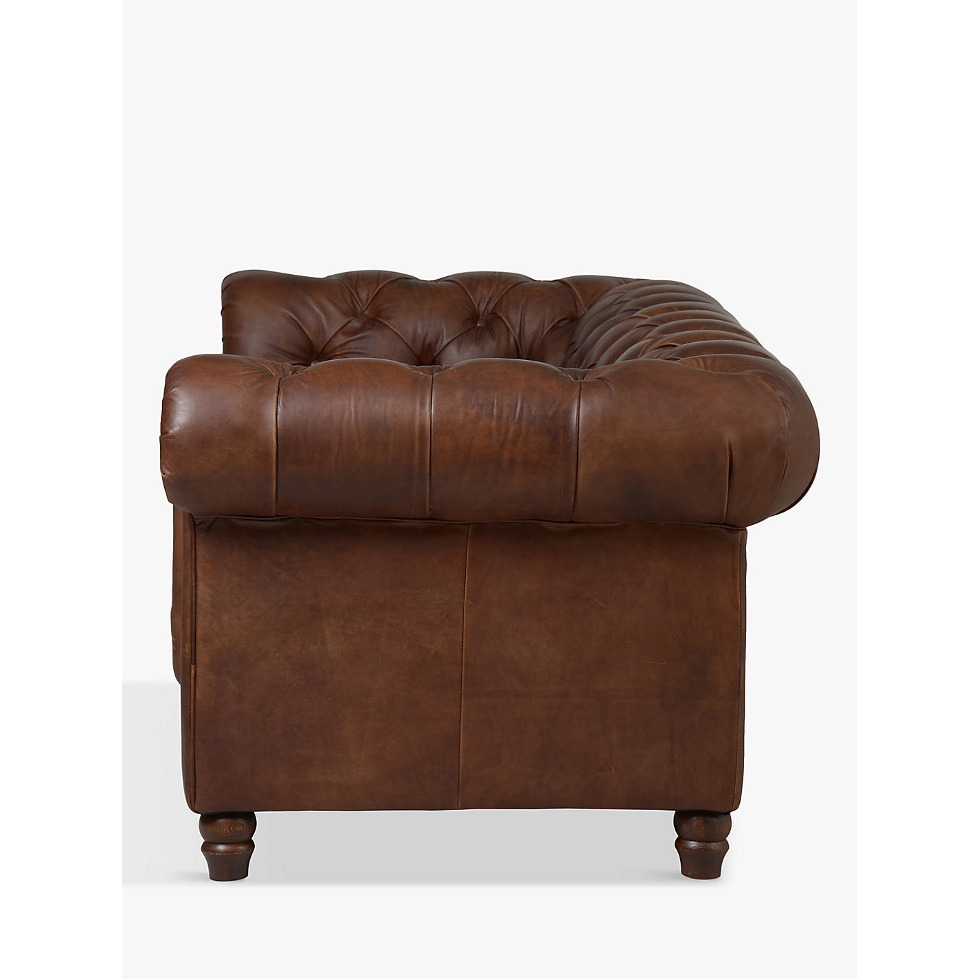 ... Buy Halo Earle Aniline Leather Chesterfield Medium Sofa, Antique Whisky  Online At Johnlewis.com ...