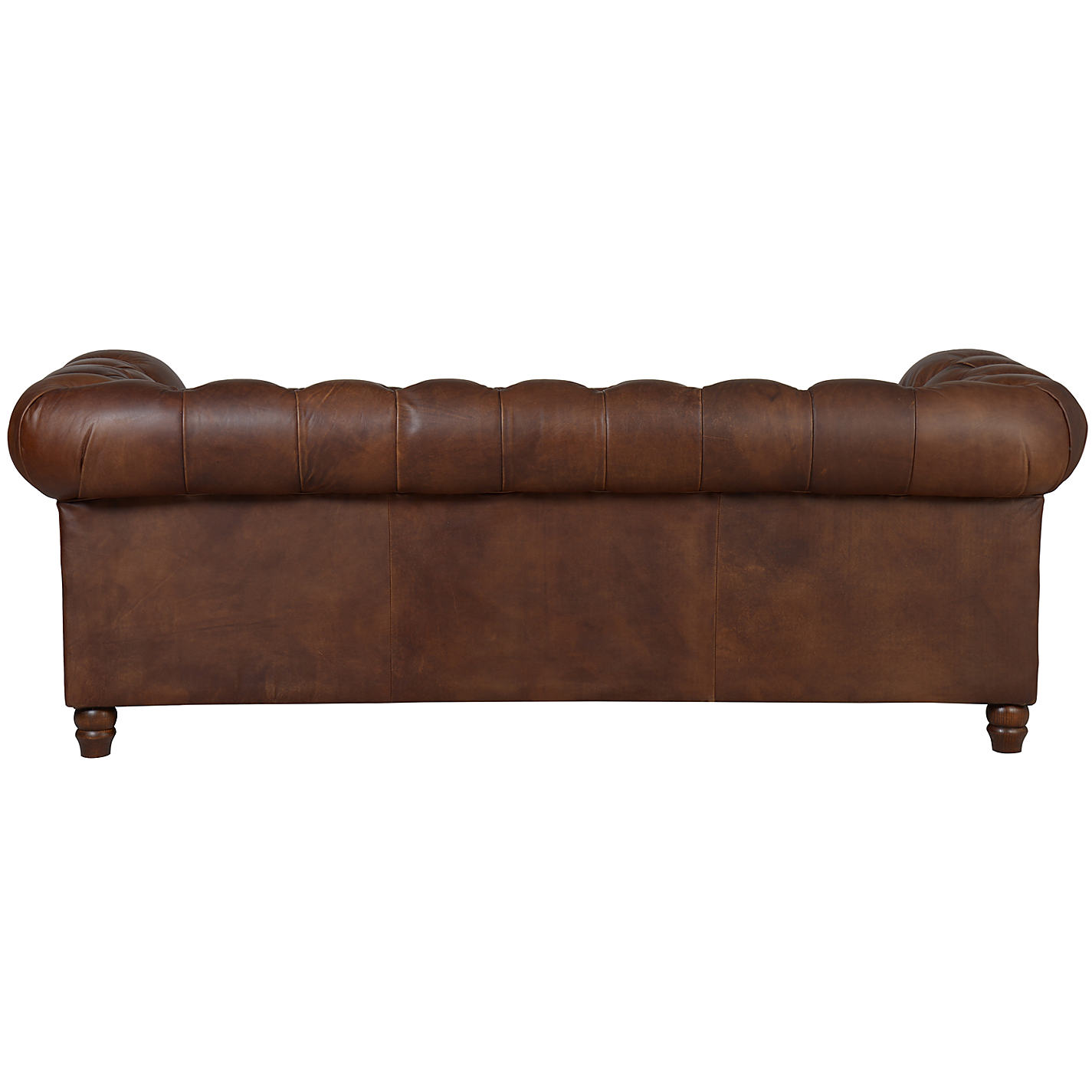 Buy Halo Earle Aniline Leather Chesterfield Medium Sofa Antique