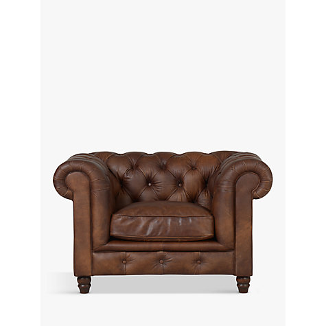 Buy Halo Earle Aniline Leather Chesterfield Armchair, Antique Whisky Online  At Johnlewis.com