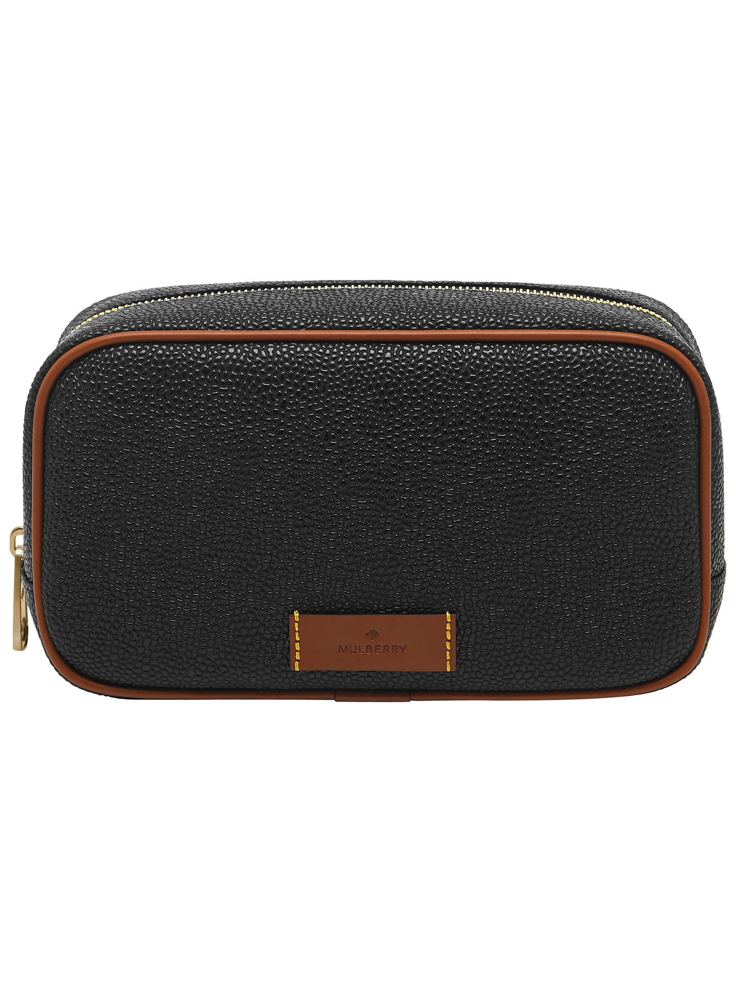 Mulberry Scotchgrain Leather Washbag Black Online At Johnlewis