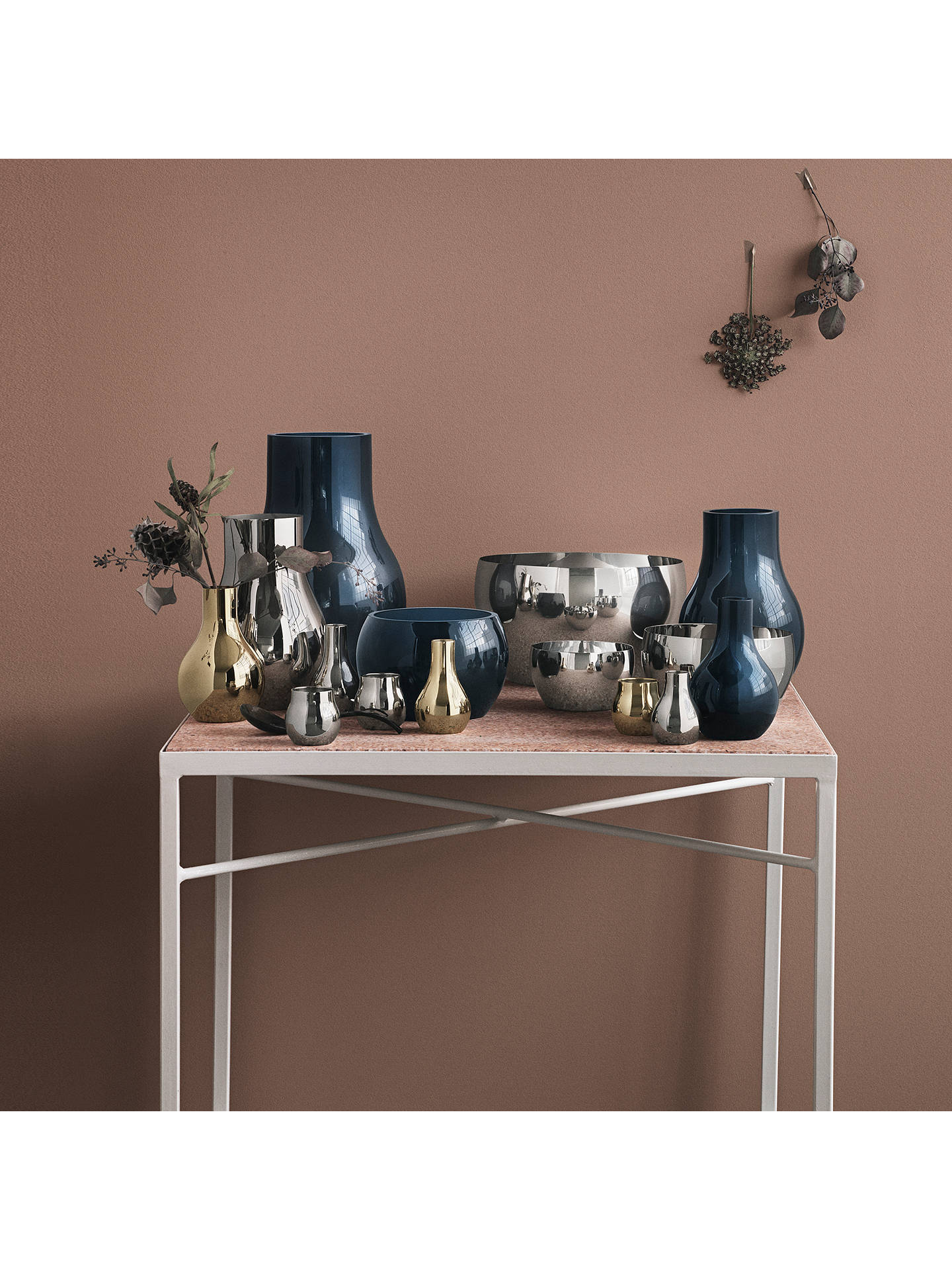 Buy Georg Jensen Cafu Candle Holder, Gold, H9.9cm Online at johnlewis.com