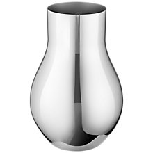 Buy Georg Jensen Cafu Vase, Stainless Steel, 21.6cm Online at johnlewis.com