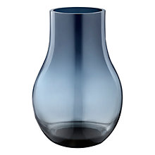 Buy Georg Jensen Cafu Vase, Blue, H21.6cm Online at johnlewis.com