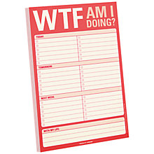 Buy Knock Knock WTF Am I Doing? Notepad Online at johnlewis.com