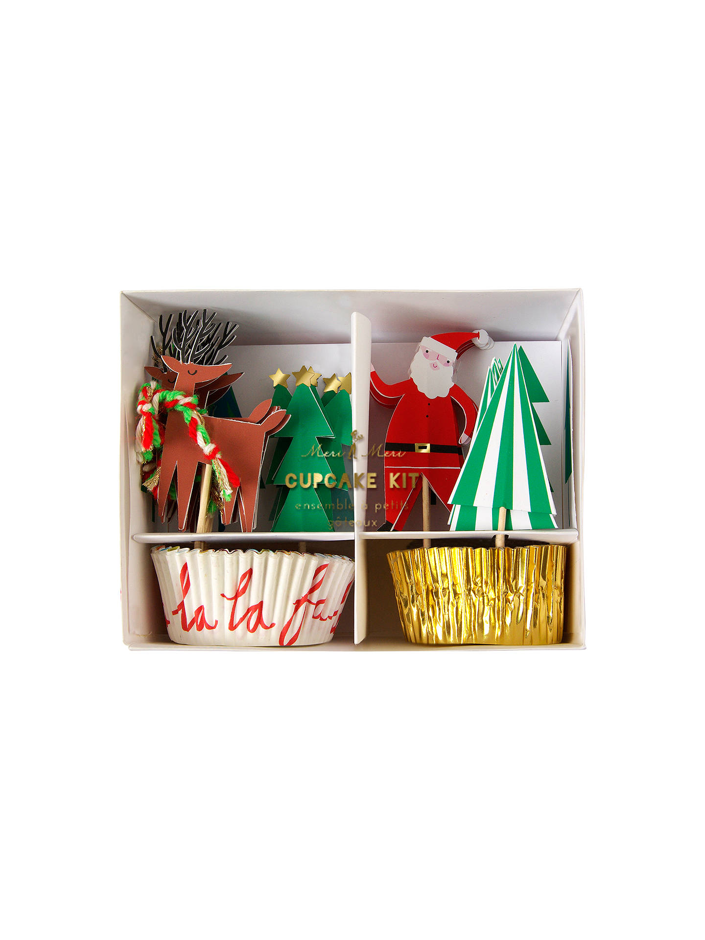 buymeri meri christmas cupcake kit online at johnlewiscom - Christmas Tree Decorating Ensemble Kits
