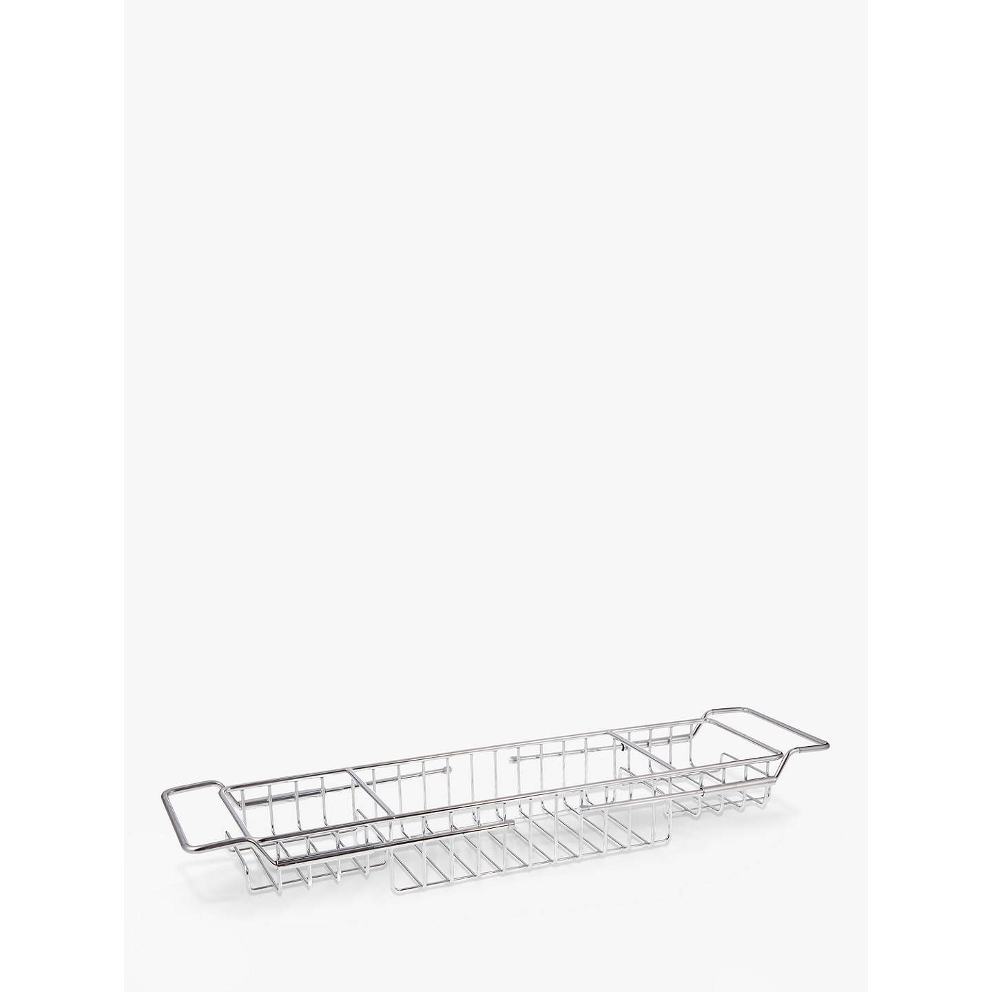 John Lewis Stainless Steel Extendable Bath Rack at John Lewis