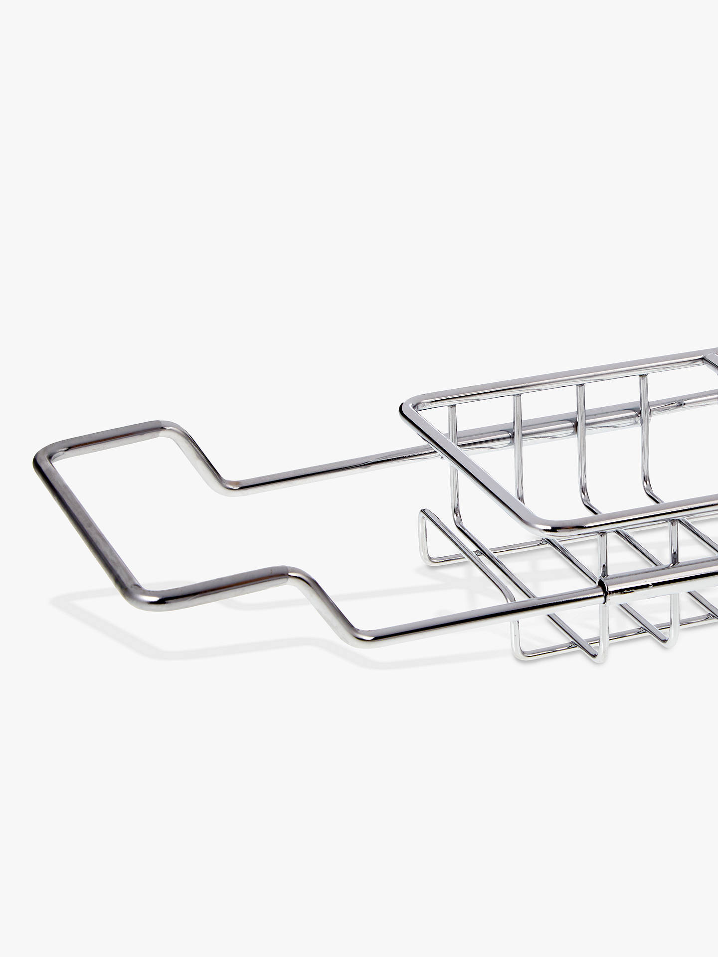 Buy John Lewis & Partners Stainless Steel Extendable Bath Rack Online at johnlewis.com