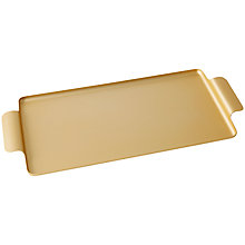 Buy Kaymet Sandwich Tray, Gold Online at johnlewis.com