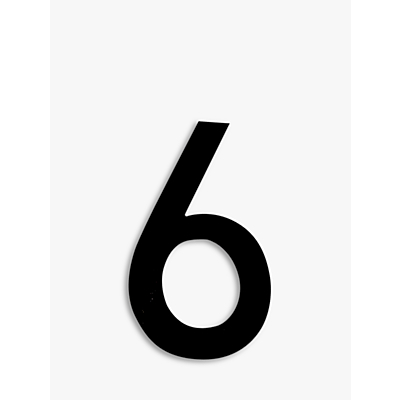 The House Nameplate Company Acrylic Numeral 6, H25.5cm