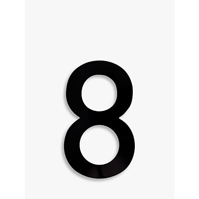 The House Nameplate Company Acrylic Numeral 8, H25.5cm