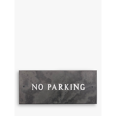 The House Nameplate Company Slate No Parking Sign, W35.5 x H10cm