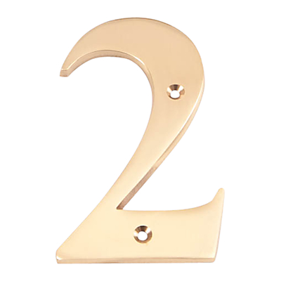 The House Nameplate Company Brass Numeral 2, H15cm