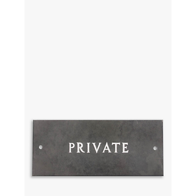 The House Nameplate Company Slate Private Sign, W35.5 x H10cm