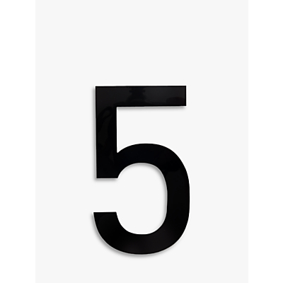 The House Nameplate Company Acrylic Numeral 5, H25.5cm