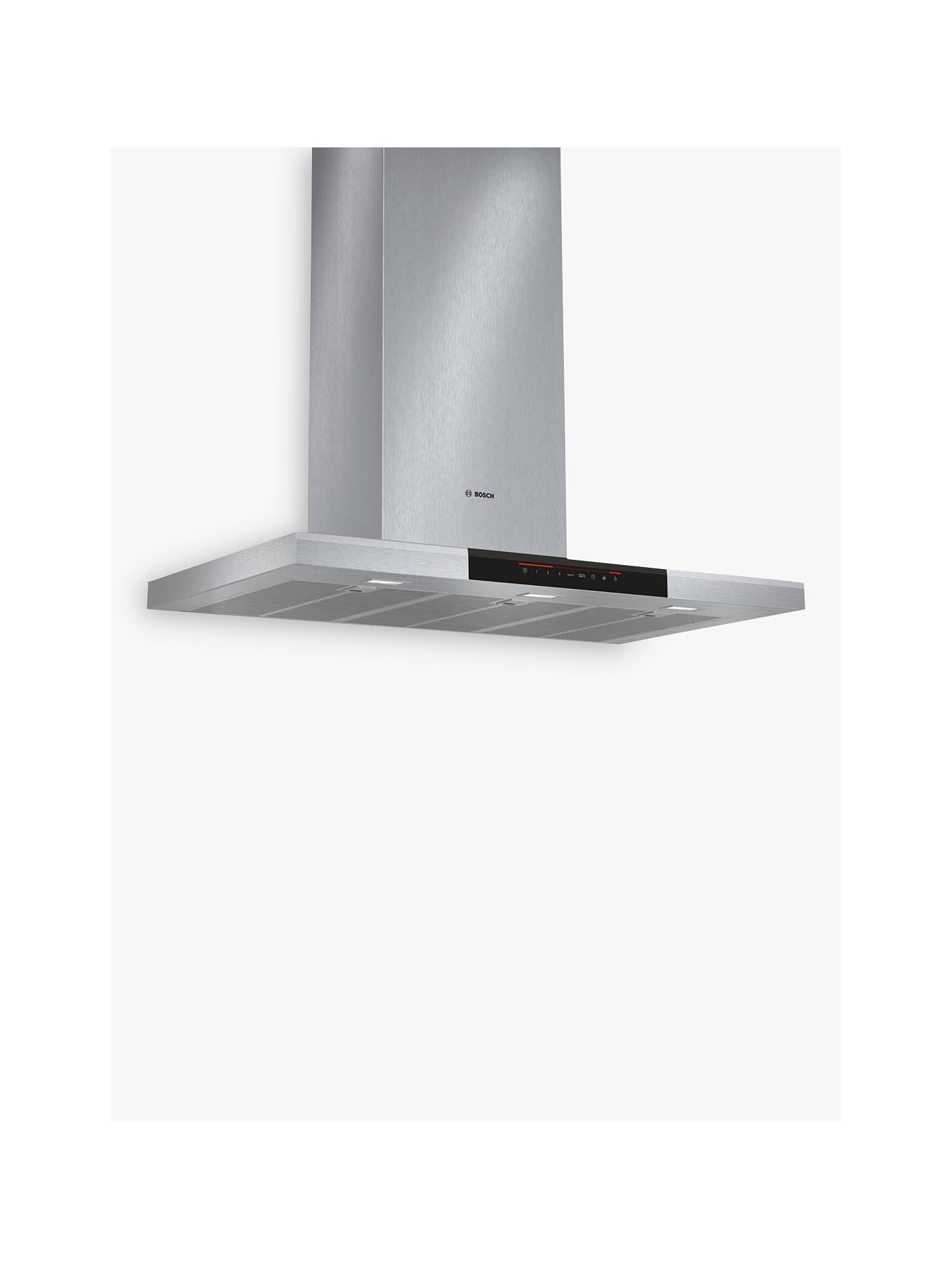 BuyBosch DWB098J50B Chimney Cooker Hood, Brushed Steel Online at johnlewis.com