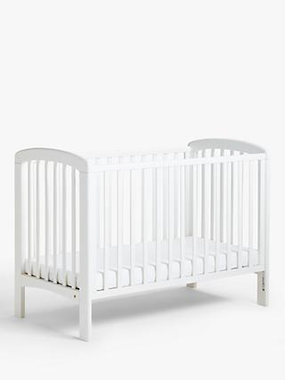 John Lewis & Partners Anna Dropside Cot, White