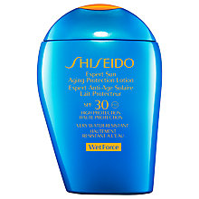 Buy Shiseido Wetforce Expert Sun Aging Protection Lotion SPF 30, 100ml Online at johnlewis.com