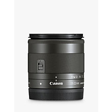 Buy Canon EF M 11-22mm f/4-5.6 Ultra Wide IS STM Lens Online at johnlewis.com