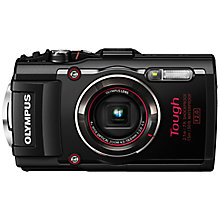 "Buy Olympus TG-4 GPS Waterproof, Freezeproof, Shockproof, Dustproof Compact Digital Camera, 16MP, Full HD 1080p, 4x Optical Zoom, Wi-Fi, RAW Shooting, 3"" LCD Screen Online at johnlewis.com"