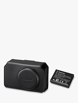 Panasonic Leather Camera Case & DMW-BCM13E Battery For Lumix TZ70 Digital Camera