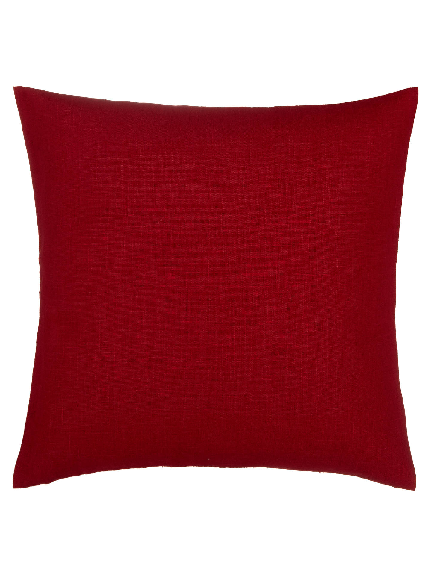 BuyJohn Lewis & Partners Linen Cushion, Crimson Online at johnlewis.com