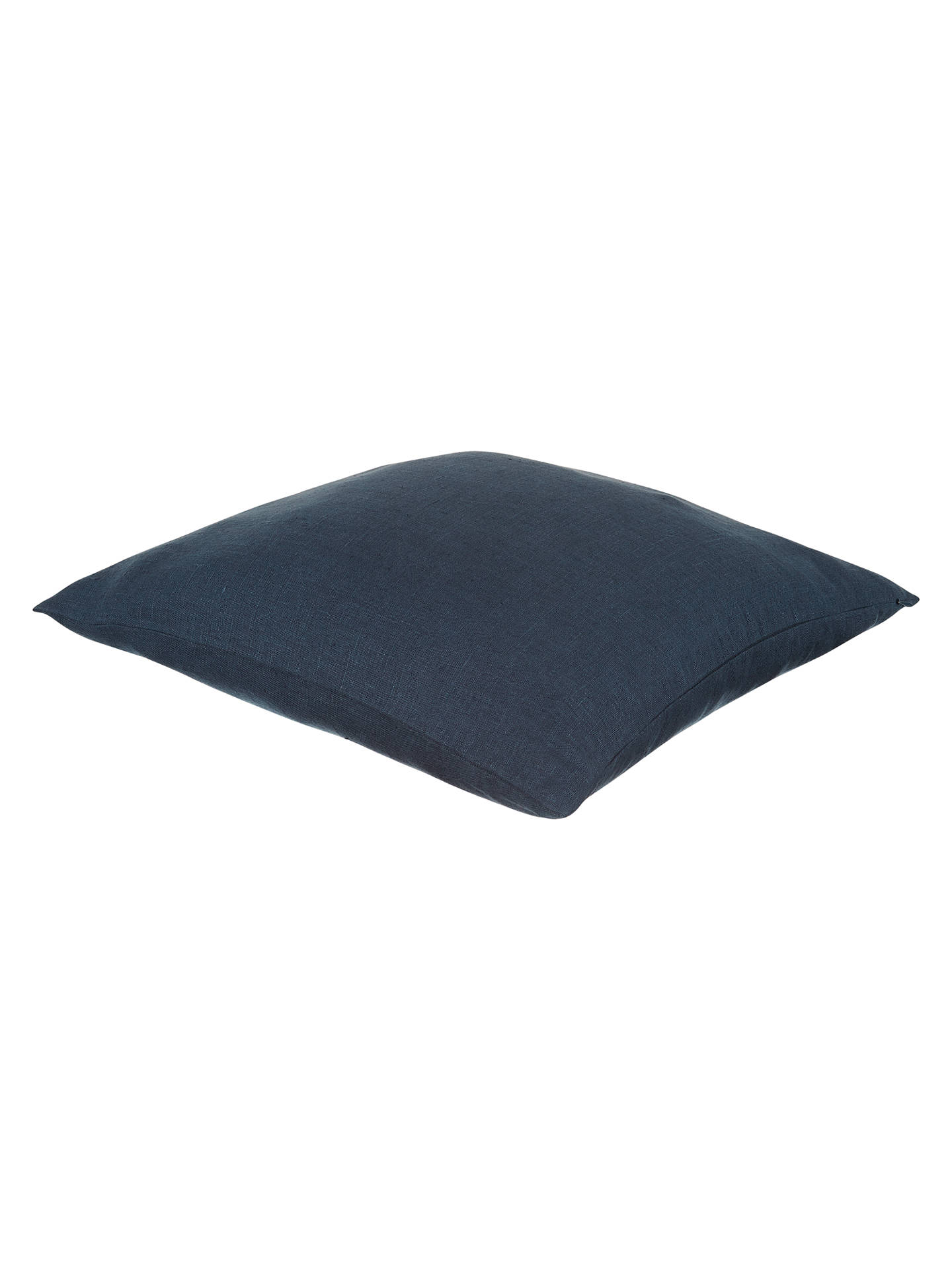 Buy John Lewis & Partners Linen Cushion, Navy Online at johnlewis.com