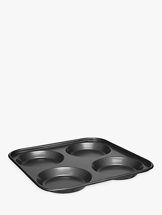 John Lewis & Partners Yorkshire Pudding Tray, 4 Cup, Grey