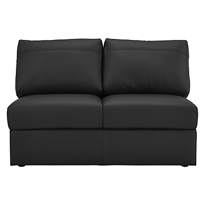House by John Lewis Finlay II Small 2 Seater Leather Modular Sofa Unit
