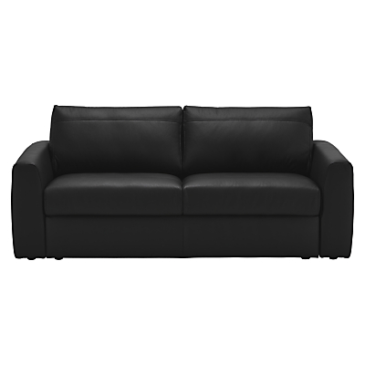 House by John Lewis Finlay II Large 3 Seater Leather Sofa