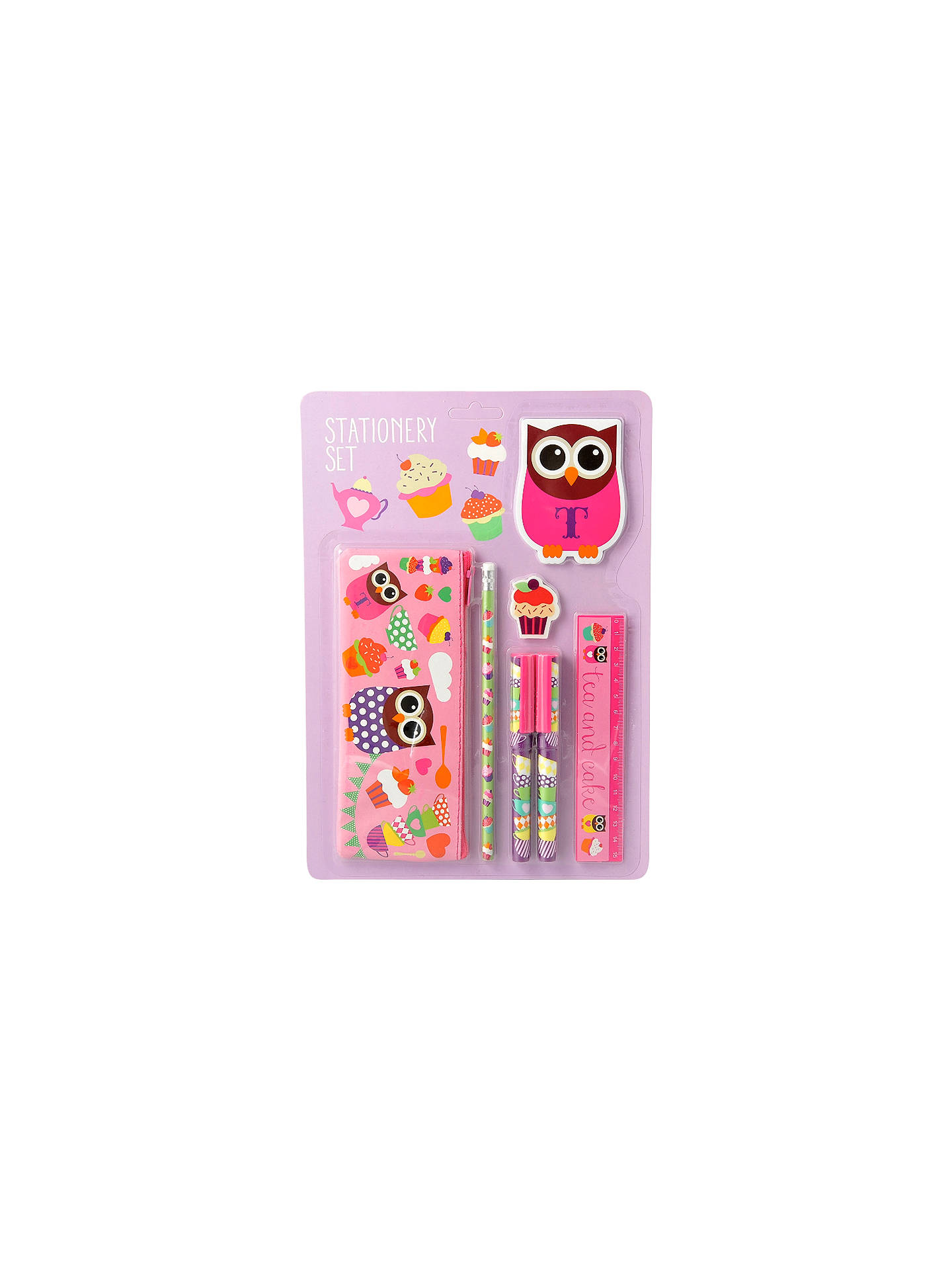fourth wall hoot tea party stationery set at john lewis partners