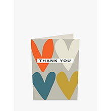 Buy Caroline Gardner Hearts Thank You Notecards, Pack of 10 Online at johnlewis.com